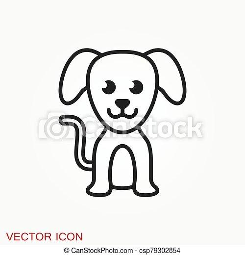 icon., perrito, elemento, su, diseño, perro, símbolo., vector - csp79302854