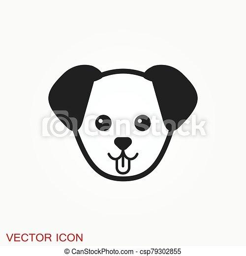 icon., perrito, elemento, su, diseño, perro, símbolo., vector - csp79302855