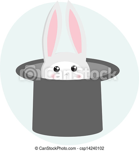 icon rabbit and magician hat - csp14240102