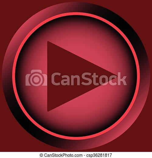 Icon red start button