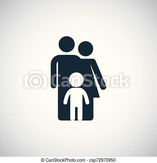 Icono de seguro familiar. - csp72970950