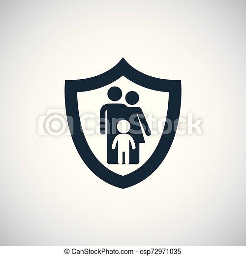 Icono de seguro familiar. - csp72971035