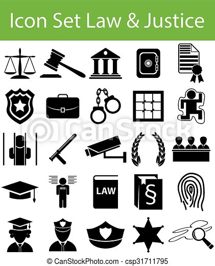 Icon Set Law and Justice - csp31711795