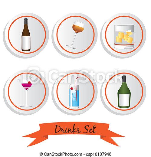 icon set of liquor - csp10107948