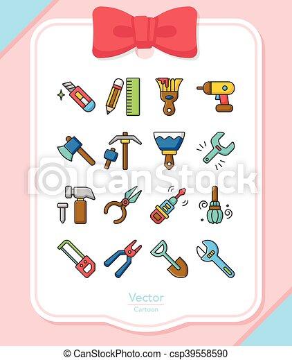 icon set tool vector - csp39558590