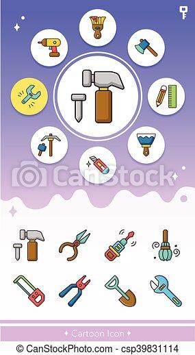 icon set tool vector - csp39831114