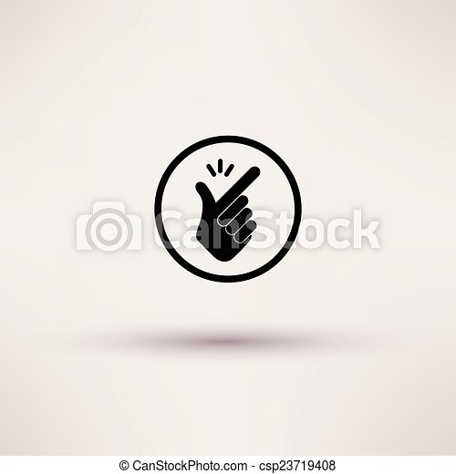 Icon - snap of the fingers. Vector illustrations. - csp23719408