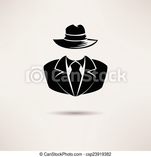 Icon spy, secret agent, the mafia Vector icon. - csp23919382