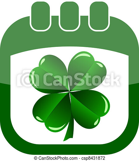 icon St Patrick Day in a calendar - csp8431872