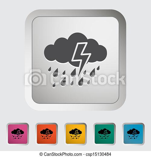 icono de tormenta. - csp15130484