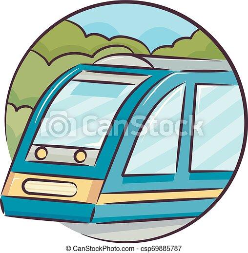 Icon Train Illustration - csp69885787