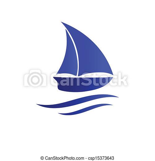 icon., vecteur, bateau, illustration - csp15373643