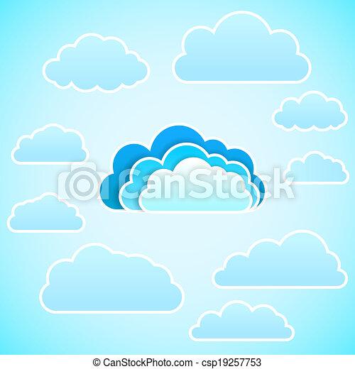 icon., vecteur, nuage, illustration - csp19257753