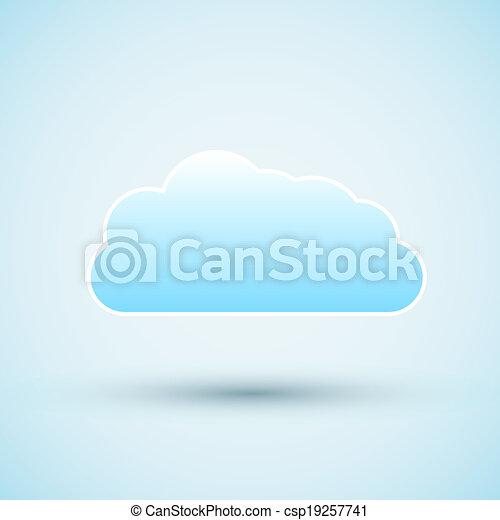 icon., vecteur, nuage, illustration - csp19257741