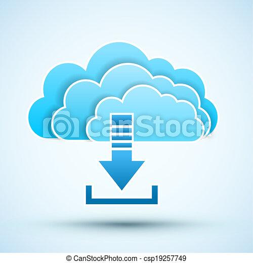 icon., vecteur, nuage, illustration - csp19257749