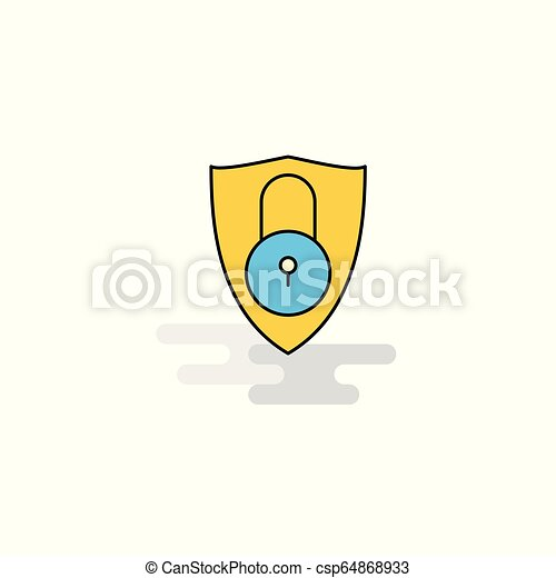 icono protegido plano. Vector - csp64868933