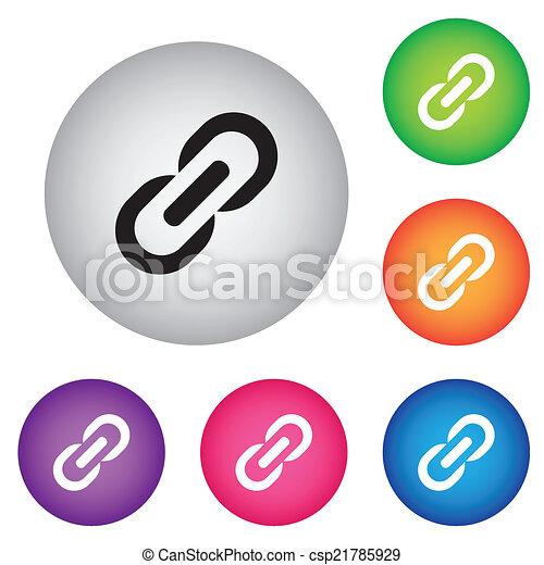 Icon., verbindung, zeichen. Buttons., kette, hyperlink, symbol ...