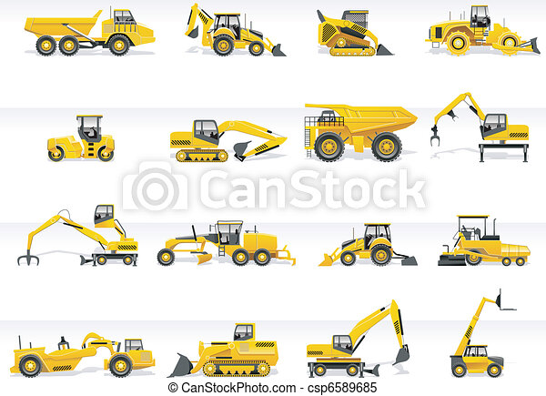 icon., vetorial, transporte, trator - csp6589685