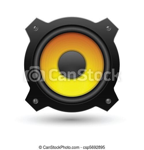 icon., vettore, altoparlante, illustration. - csp5692895