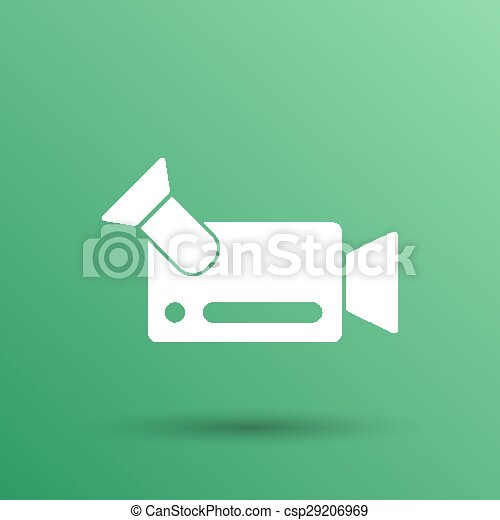 icon video camera isolated footage square camcorder - csp29206969