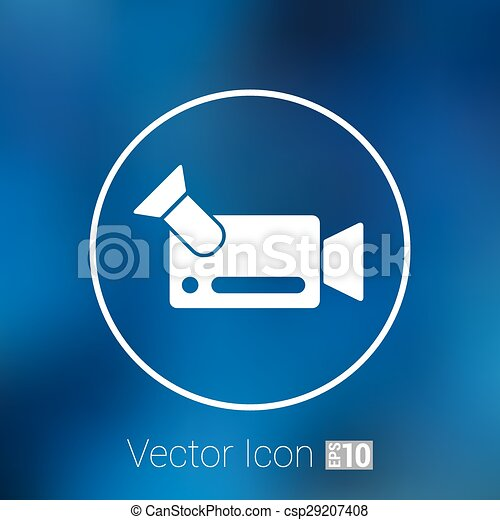 icon video camera isolated footage square camcorder - csp29207408