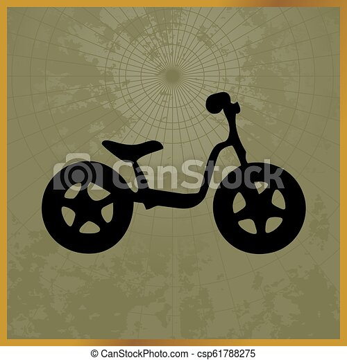 Icon with a black bike field map - csp61788275