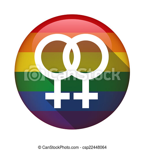 icon with a gay pride flag illustration of an isolated icon with a rh canstockphoto com LGBT Logo Asexual Cake Logo