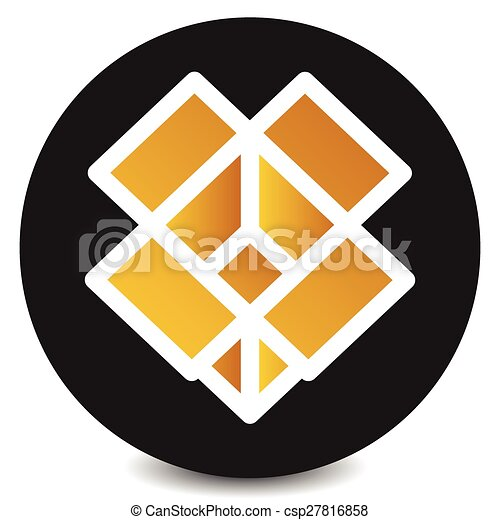 Icon With Brown Open Box Symbol Vector
