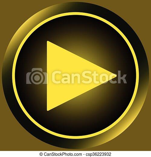 Icon yellow start button