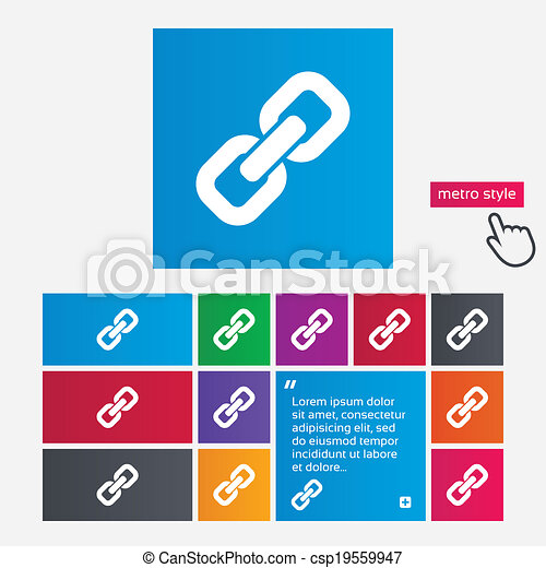 Icon., zeichen, verbindung, symbol., hyperlink. Website,... EPS ...