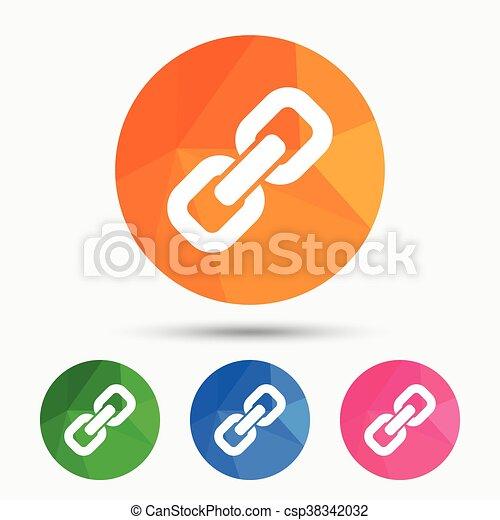Icon., zeichen, verbindung, symbol., hyperlink. Wohnung, kette ...