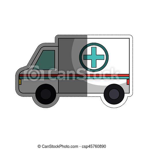 icona, ambulanza, veicolo - csp45760890