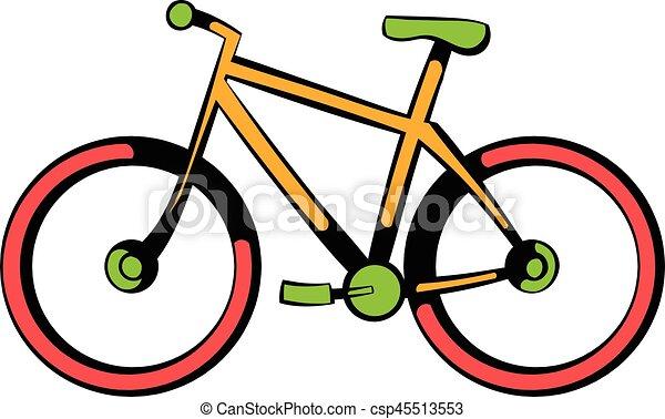 Icona Bicicletta Cartone Animato Icona