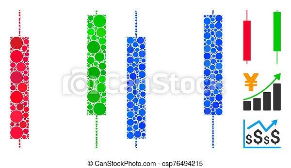 icona, candelieri, punti, cerchio, mosaico - csp76494215
