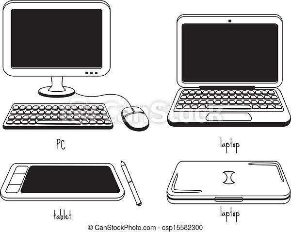 icona computer - csp15582300