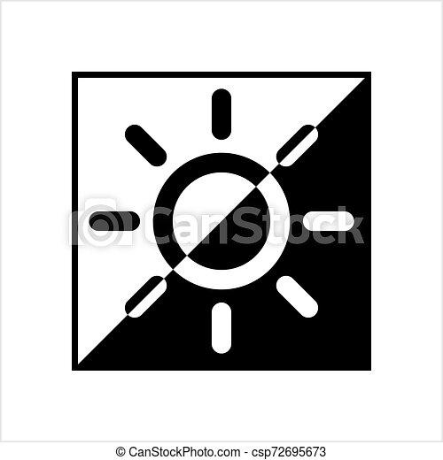 icona, intensità, regolazione, luminosità - csp72695673