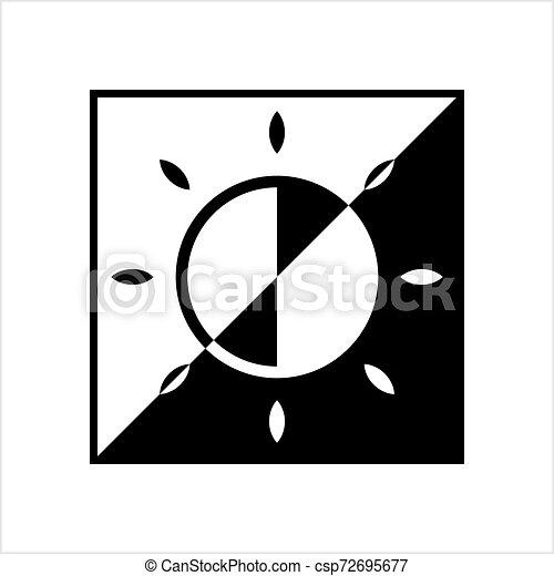 icona, intensità, regolazione, luminosità - csp72695677