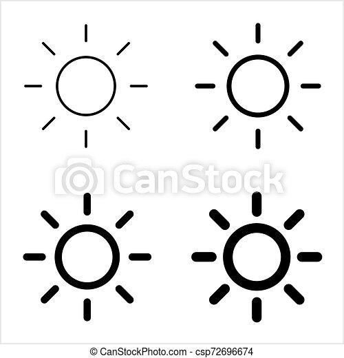 icona, intensità, regolazione, luminosità - csp72696674