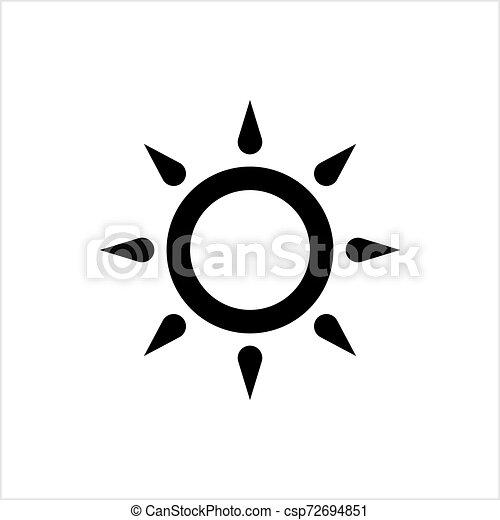 icona, intensità, regolazione, luminosità - csp72694851