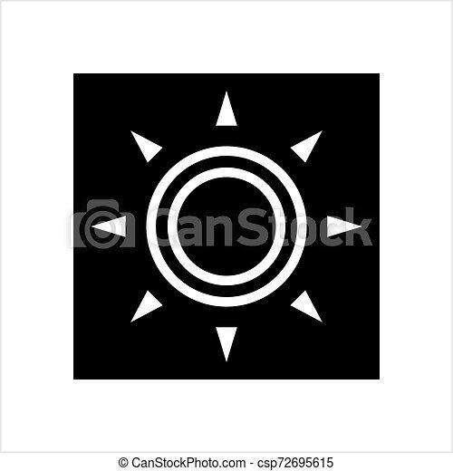 icona, intensità, regolazione, luminosità - csp72695615