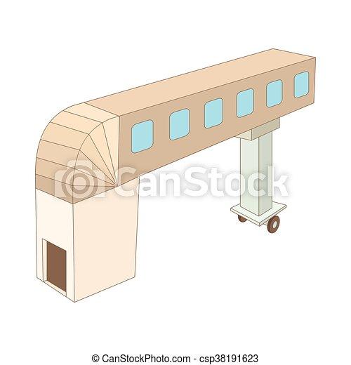 Icona ponte stile cartone animato jet. ponte stile jet fondo