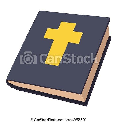 Icona stile bibbia cartone animato web bibbia illustrazione