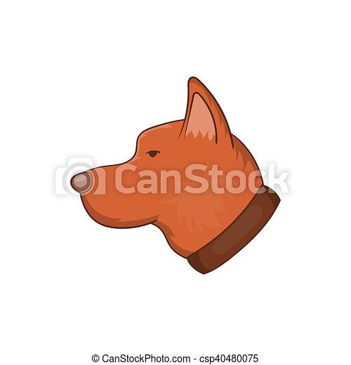 Icona testa stile cartone animato cane stile icona for Piani casa com classico cane trotto stile
