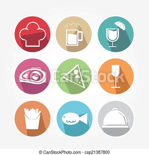 icone cibo - csp21387800