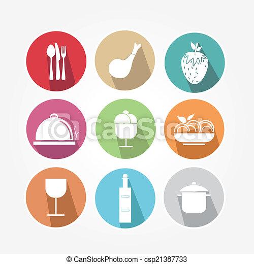 icone cibo - csp21387733