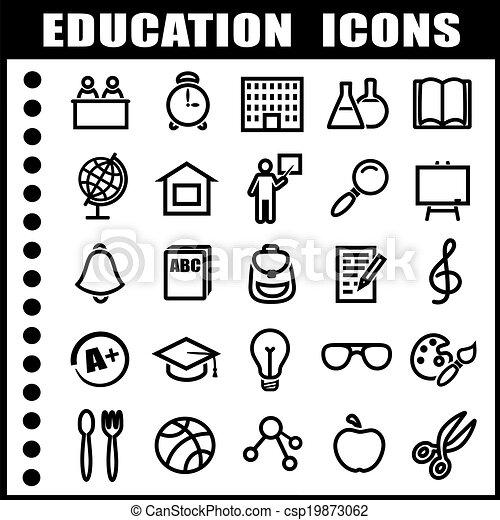 icone, educazione - csp19873062