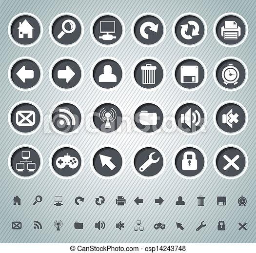 icone fotoricettore - csp14243748