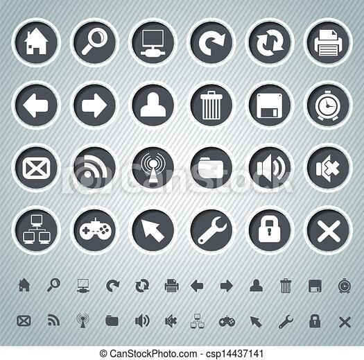 icone fotoricettore - csp14437141