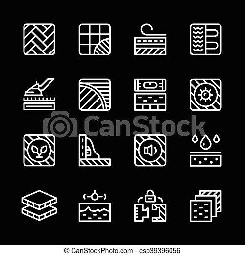 icone, linea, set, pavimento - csp39396056