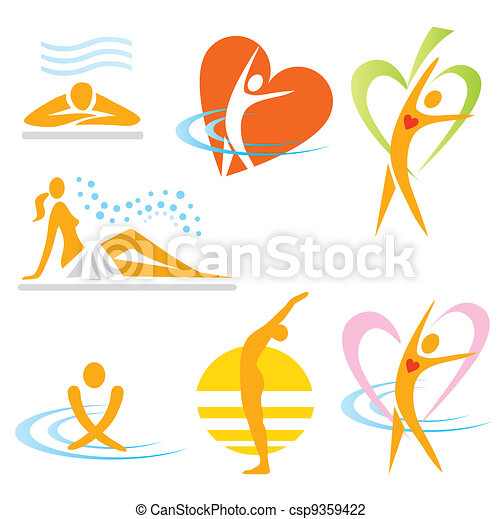 icone, salute, sauna, terme - csp9359422